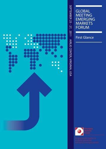 First Glance.pdf - Emerging Markets Forum