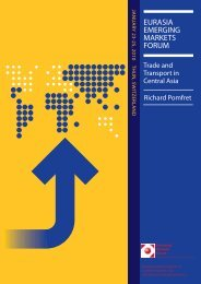 Trade and Transport in Central Asia - Emerging Markets Forum