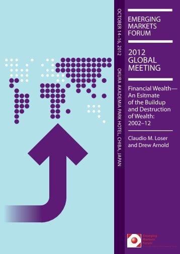 2012 GLOBAL MEETING - Emerging Markets Forum