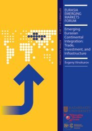 Emerging Eurasian Continental Integration: Trade, Investment, and ...