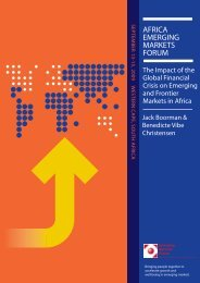 The Impact of the Global Financial Crisis on Emerging and Frontier ...