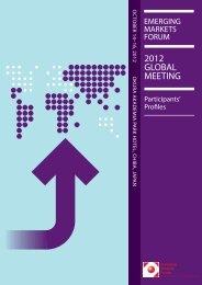 Participants' Profiles - Emerging Markets Forum