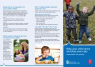 Help your child move and play every day - Early Years