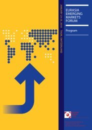 2010 Eurasia Emerging Markets Forum Program (PDF)