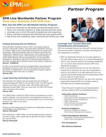 EPM Live Workspace Datasheet