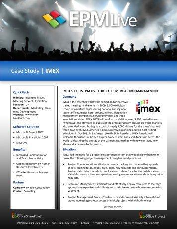 Case Study | IMEX - EPM Live