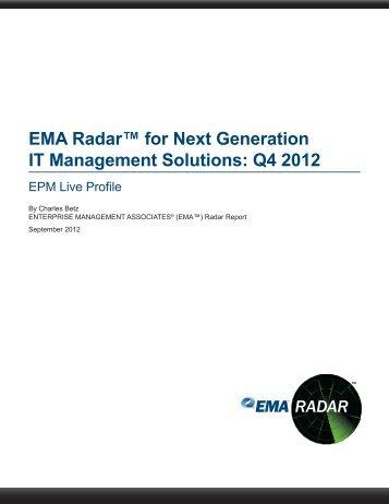EMA Radar™ for Next Generation IT Management ... - EPM Live