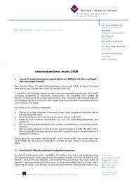 Informationer for danske clienter marts 2009 - Nielsen Wiebe & Partner