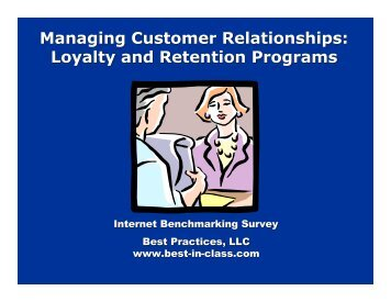Loyalty and Retention Programs - Best Practices, LLC