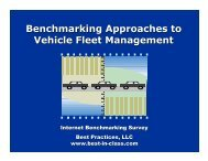 Benchmarking Approaches to Vehicle Fleet Management