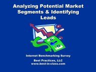 Analyzing Potential Market Segments & Identifying Leads