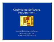 Optimizing Software Procurement - Best Practices, LLC