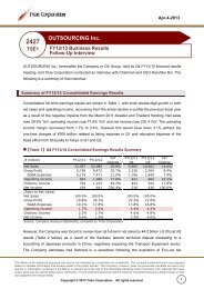 FY12/12 Business Results Follow-Up Interview (PDF ... - IRTV Network