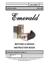 Emerald Motors & Drive Manual - Industrial Indexing Systems
