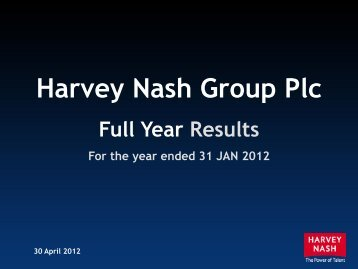 this presentation - Harvey Nash