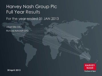 End of year presentation 2013 - Harvey Nash