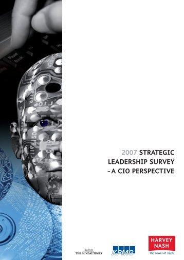 2007 Strategic LeaderShip Survey -a ciO perSpective - Harvey Nash
