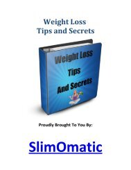 Weight Loss Tips and Secrets - Viral PDF Generator