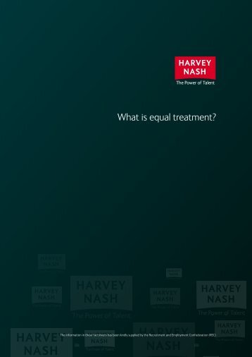 AWR Factsheet 4 - What is equal treatment? - Harvey Nash