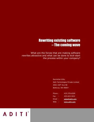 Rewriting existing software – The coming wave - SoftwareCEO