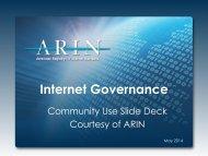 Internet Governance Forum - ARIN