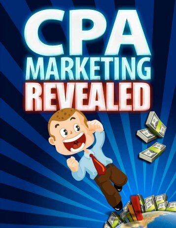 Generate A Fortune Online With CPA Networks - - dirty style!