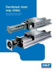 Hardened steel way slides - Rowe Sales & Service Inc.