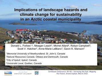 Implications of landscape hazards and climate change for ...