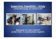 Kooperation Jugendhilfe – Schule Unterstützung im Unterricht