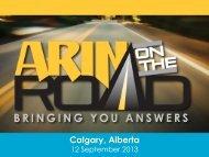 Calgary, Alberta - ARIN