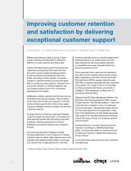 Improving customer retention and satisfaction by delivering ...