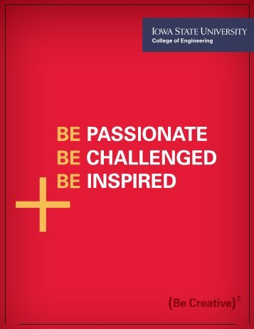 new recruitment brochure - College of Engineering at Iowa State ...