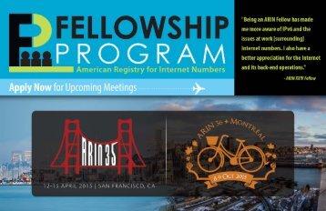 Fellowship Flyer. - ARIN