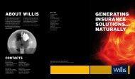 GENERATING INSURANCE SOLUTIONS... NATURALLY - Willis