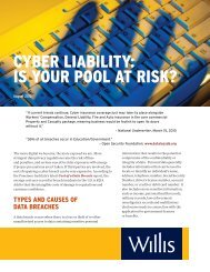 CYBER LIABILITY: IS YOUR POOL AT RISK? - Willis