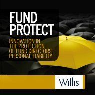 innovation in the protection of fund directors' personal liability - Willis