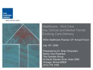 Healthcare…Sick Care Key Clinical and Market Trends ... - Willis
