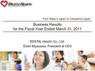 FY3/11 Business Results(PDF/770KB) - IRTV Network