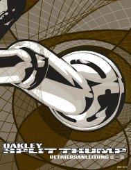 SPLIT THUMP BETRIEBSANLEITUNG - Oakley