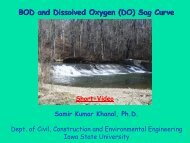 BOD and Dissolved Oxygen (DO) Sag Curve - Iowa State University
