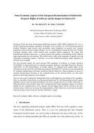 Some Economic Aspects of the European Harmonization of ...