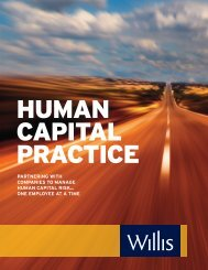 partnering with companies to manage human capital risk… - Willis