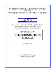 CM/ECF Attorney Manual - Northern District of West Virginia