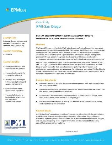 PMI-San Diego case study - EPM Live