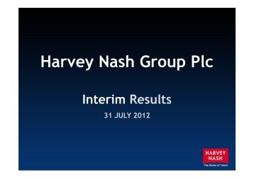 Interim Results Presentation 2012 - Harvey Nash