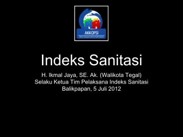 Indeks Sanitasi (Walikota Tegal)