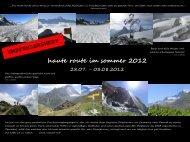 haute route im sommer 2012 - Alpinschule OASE-Alpin