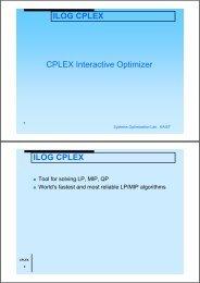 A Quick introdution to CPLEX
