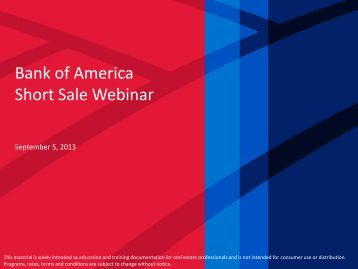 View Presentation - Agent Resource Center - Bank of America