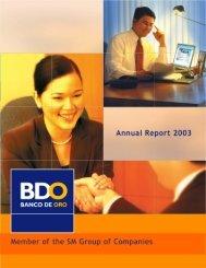 BDO AR 2003 - Asianbanks.net